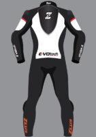 Zeus Evo-Tech Race Suit Orange/White/Black Customizable
