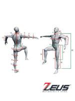 Zeus Evo-Tech Race Suit White Black Customizable