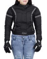ZENA LADIES MOTORCYCLE JACKET GREY BLACK