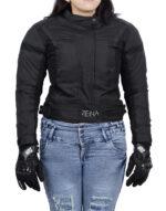 ZENA LADIES MOTORCYCLE JACKET  BLACK
